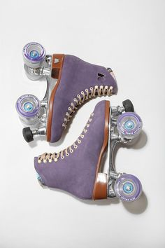 Purple Skates. How cute :'>