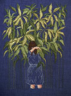turecepcja:  Embroideries that look like paintings by Michelle...