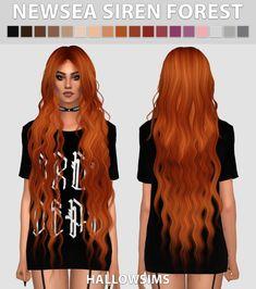 Hallow Sims: Newsea`s Siren Forest Hair Retextured  - Sims 4 Hairs - http://sims4hairs.com/hallow-sims-newseas-siren-forest-hair-retextured/