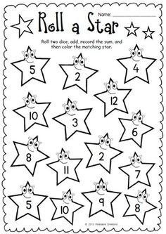 Roll a Star - Addition and Subtraction from Readable Creations on TeachersNotebook.com -  (5 pages)  - The math activities in this packet support the development of addition and subtraction within 20.