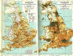 Population density map of England before (1701) and after (1911)... http://bit.ly/1I9L1HZ