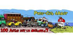 100 autos sur la N7 avec Thierry Dubois, du 09 au 13 juillet de Montargis à Grasse le rallye touristique de 2017 -www.100autossurlan7.com