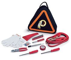 Washington Redskins NFL Car Vehicle Roadside Emergency Tool Kit Hazard Warning