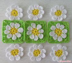 Granny Square Häkelanleitung, Crochet Square Blanket, Crochet Quilt, Granny Square Crochet Pattern, Crochet Squares, Crochet Home, Crochet Gifts, Diy Crochet, Crochet Doilies