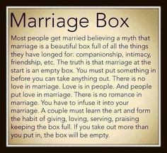 After 47 years of marriage I must say...this is very true!  Invest in your marriage TODAY.  It is so worth it!
