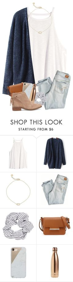 """No better time than now"" by magsvolleyball2 ❤ liked on Polyvore featuring H&M, Kendra Scott, American Eagle Outfitters, Topshop, Jason Wu, Native Union, S'well and Sole Society #americaneagleoutfitters"