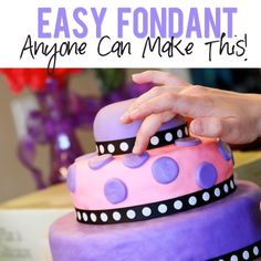 Easy to make marshmallow fondant recipe from How Does She - click on the picture for more information!