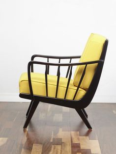 A truly striking 50s cocktail chair. The chair has slanted upwards armrests with vertical spindles which are also repeated on the back of the chair meaning that this chair displays nicely all the way round. #Cocktail_Chair #Vintage_Armchair #Retro_chair #50s #60s #70s #Midcentury  www.viremo.co.uk Cocktail Chair, Chair Pictures, Vintage Armchair, Mid Century, Dining Table, 1950s, Africa, Chairs, Fancy