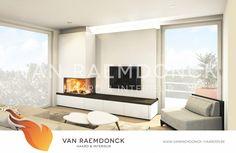 Houthaard met TV-meubel - Van Raemdonck - Haard & Interieur