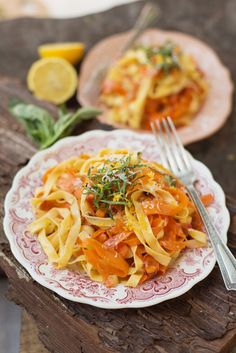 Spring Recipe: Carrot Ribbon Fettuccine — Guest Post from Erin Gleeson of The Forest Feast