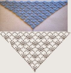 Pattern of triangular scarf