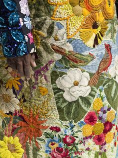♒ Enchanting Embroidery ♒  emroidered flowers | Nick Cave