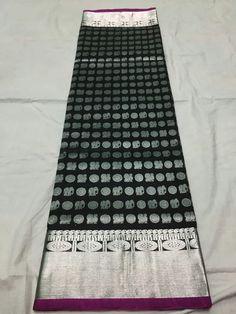 Venkatagiri saree black color