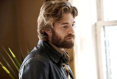 Beard and leather jacket