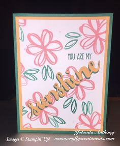 Sunshine Sayings Bundle using stamps by Stampin' Up!