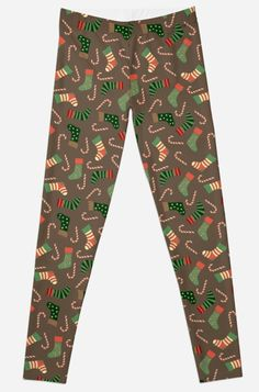 'Merry Christmas Socks Candy Pattern Dress' Leggings by Christmas Themes, Christmas Fun, Cheap Christmas Dresses, Best Leggings, Dresses With Leggings, Printed Leggings, Artwork Prints, Dress Patterns, Chiffon Tops