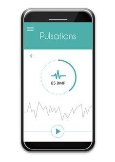 Heart rate monitoring #ctband #app #wearable #hightech