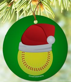Light Red Softball Christmas Ornaments $20.10 Pitchers, catchers ...