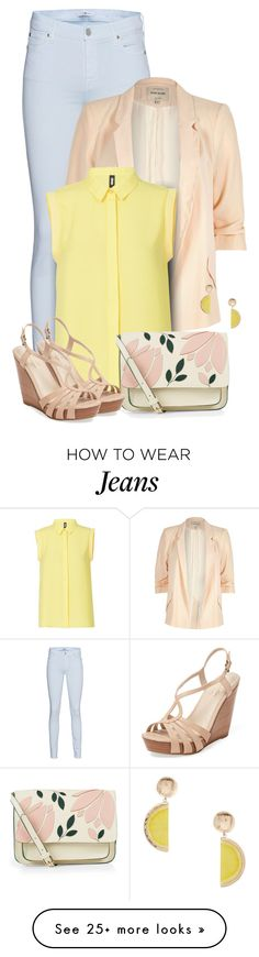 """Jeans & A Blazer 3"" by majezy on Polyvore featuring 7 For All Mankind, River Island, Accessorize, Seychelles and MANGO"
