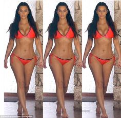 Missing your old body? Pregnant Kim Kardashian shared this throwback bikini photo times three from a 2012 trip to the Dominican Republic on her Instagram on Friday