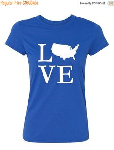 Love US of A  Ladies' T-shirt by IMakeItYouNameIt on Etsy