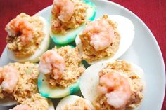 cajun shrimp deviled eggs