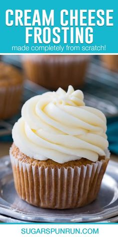 Carrot Cake Frosting, Cupcake Frosting Recipes, Cream Cheese Buttercream Frosting, Chocolate Cream Cheese Frosting, Cupcake Cakes, Icing Frosting, Cream Cheese Icing Recipe For Cake, Icing Recipe For Cupcakes, Cream Cheese Fristing
