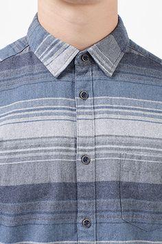 Esprit / Flanellhemd mit Streifen, 100% Baumwolle