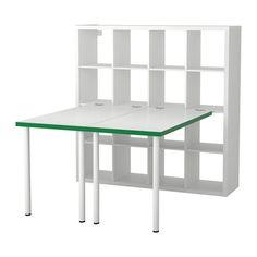 KALLAX Workstation - white/green - IKEA