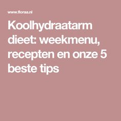 Koolhydraatarm dieet: weekmenu, recepten en onze 5 beste tips Healthy Recepies, Mini Cheesecakes, Clean Recipes, Good Food, Paleo, Food And Drink, Health Fitness, Low Carb, Nutrition