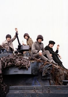 The Beatles while Filming Help, 1965.