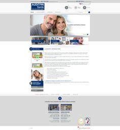 Maquette site auditionsante.ch - createur site internet pour vente produits audition