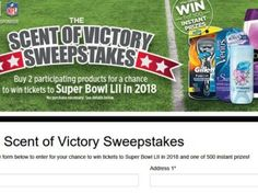 Scent of Victory Sweepstakes