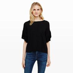 Women   Naline Ruffle Sweater   Club Monaco
