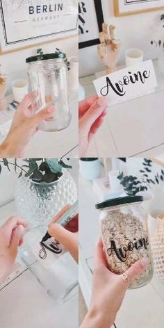 DIY déco récup - Pubg about you searching for. Pot Mason Diy, Mason Jar Crafts, Mason Jars, Pickle Jar Crafts, Mason Jar Herbs, Wine Bottle Crafts, Diy Crafts Hacks, Diy Home Crafts, Diy Projects