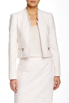 Boucle Knit Crop Jacket by Calvin Klein on @nordstrom_rack