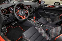 VW Golf GTI Wolfsburg Edition interior. Loving it!