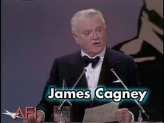 James Cagney Accepts the AFI Life Achievement Award in 1974 - YouTube
