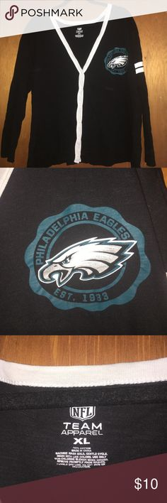 Eagles button down sweater A nicer way to support your team than a jersey! I was able to wear this button up cardigan to work! Comfortable and stylish! nfl Sweaters Cardigans