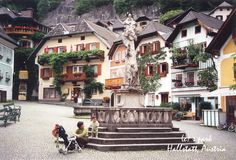 Hallstatt~Austria ~ Hallstatt is located southeast of Salzburg, directly on the shores of Lake Hallstatt. The area has been occupied since the iron age; 7000 years ago people discovered the salt mines enabeling them to settle an area and make it into a trade center. The salt mine is the top attraction in Hallstatt. Take a tour...hop on a tram, ride into the depths of the mine and see how salt is mined.
