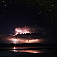 thunder and lightening storms minus the rain