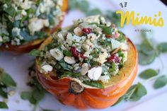 Quinoa, Cranberry and Almond Stuffed Acorn Squash - Mimi's Fit Foods