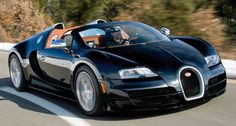Bugatti Veyron 16.4 Grand Sport Vitesse..1200 horsepower to take you anywhere! Reaches +430 km/h, a little to much for my daily city traffic jam.