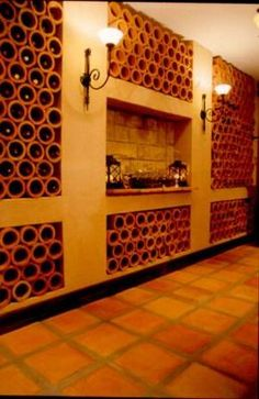 Lanes Ceramics clay pipes make this cellar awesome, our tiles are also laid on the floor