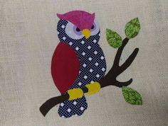 Owl Patterns, Patchwork Patterns, Applique Patterns, Applique Designs, Quilt Patterns, Sewing Patterns, Owl Applique, Applique Quilts, Dish Towel Embroidery
