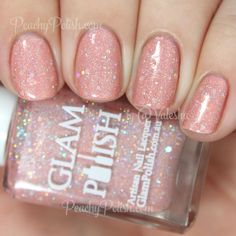 Glam Polish Miraculous | Cast A Spell: The White Witch Collection | Peachy Polish - adore! #pink/orange glitter