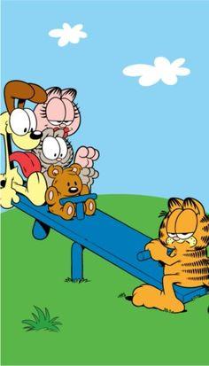 Garfield the cat - humor funny comic Garfield Pictures, Garfield Quotes, Garfield Cartoon, Garfield And Odie, Garfield Comics, Cartoon Shows, Cartoon Characters, Garfield Birthday, Garfield Wallpaper