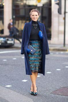 London Town: Street Style Fall 2014 - Page 51 - Harper's BAZAAR