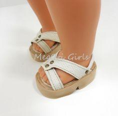 18 Doll Shoes Sandals fit American Girl Dolls by MegOrisDolls