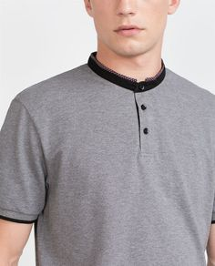 Image 5 of MAO COLLAR POLO SHIRT from Zara